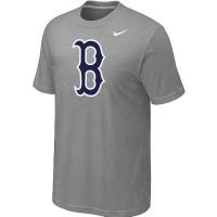 Baseball Boston Red Sox Heathered Nike Blended T-Shirt Light Grey
