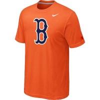 Baseball Boston Red Sox Heathered Nike Blended T-Shirt Orange