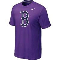 Baseball Boston Red Sox Heathered Nike Blended T-Shirt Purple