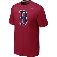 Baseball Boston Red Sox Heathered Nike Blended T-Shirt Red
