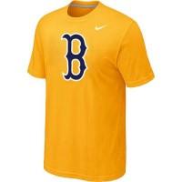 Baseball Boston Red Sox Heathered Nike Blended T-Shirt Yellow