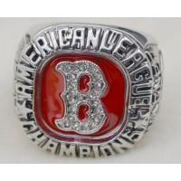 Baseball Boston Red Sox World Champions Silver Ring_1