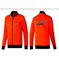 Baseball Boston Red Sox Zip Jacket Orange
