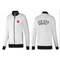 Baseball Boston Red Sox Zip Jacket White