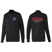 Baseball Chicago Cubs Zip Jacket Black