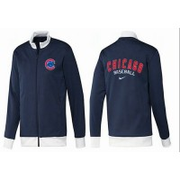 Baseball Chicago Cubs Zip Jacket Dark Blue_1