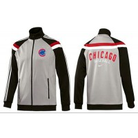 Baseball Chicago Cubs Zip Jacket Grey