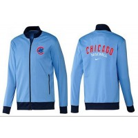 Baseball Chicago Cubs Zip Jacket Light Blue