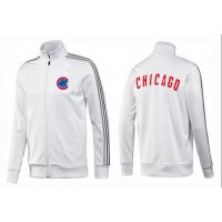 Baseball Chicago Cubs Zip Jacket White_2