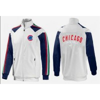 Baseball Chicago Cubs Zip Jacket White_3