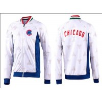 Baseball Chicago Cubs Zip Jacket White_4