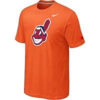 Baseball Cleveland Indians Heathered Nike Blended T-Shirt Orange