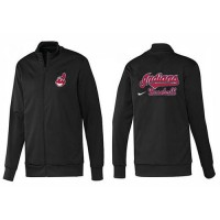 Baseball Cleveland Indians Zip Jacket Black_1