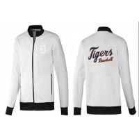 Baseball Detroit Tigers Zip Jacket White_1