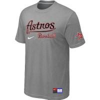 Baseball Houston Astros Light Grey Nike Short Sleeve Practice T-Shirt