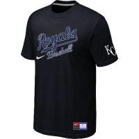 Baseball Kansas City Royals Black Nike Short Sleeve Practice T-Shirt