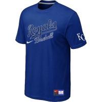 Baseball Kansas City Royals Blue Nike Short Sleeve Practice T-Shirt