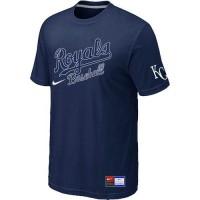 Baseball Kansas City Royals Dark Blue Nike Short Sleeve Practice T-Shirt