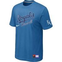 Baseball Kansas City Royals Light Blue Nike Short Sleeve Practice T-Shirt