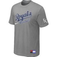 Baseball Kansas City Royals Light Grey Nike Short Sleeve Practice T-Shirt