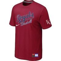 Baseball Kansas City Royals Red Nike Short Sleeve Practice T-Shirt