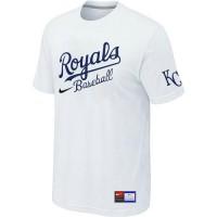 Baseball Kansas City Royals White Nike Short Sleeve Practice T-Shirt