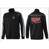 Baseball Minnesota Twins Zip Jacket Black