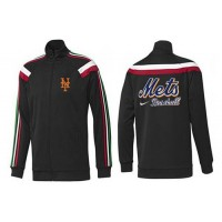 Baseball New York Mets Zip Jacket Black_1