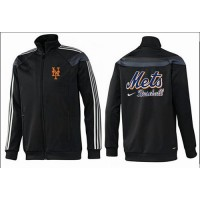 Baseball New York Mets Zip Jacket Black_2
