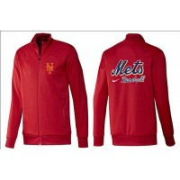 Baseball New York Mets Zip Jacket Red