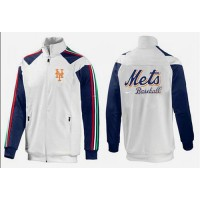 Baseball New York Mets Zip Jacket White_1
