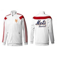 Baseball New York Mets Zip Jacket White_2