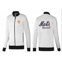 Baseball New York Mets Zip Jacket White_4
