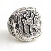 Baseball New York Yankees World Champions Silver Ring_2
