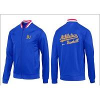 Baseball Oakland Athletics Zip Jacket Blue_1