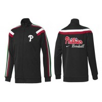 Baseball Philadelphia Phillies Zip Jacket Black_1