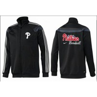 Baseball Philadelphia Phillies Zip Jacket Black_2