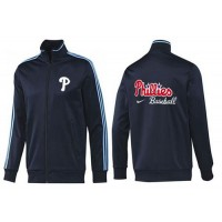 Baseball Philadelphia Phillies Zip Jacket Dark Blue