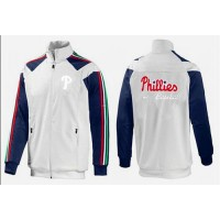 Baseball Philadelphia Phillies Zip Jacket White_1