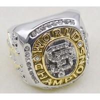 Baseball San Francisco Giants World Champions Silver Ring_1