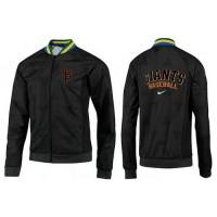 Baseball San Francisco Giants Zip Jacket Black_1