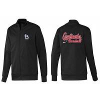 Baseball St.Louis Cardinals Zip Jacket Black_1