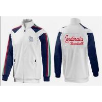 Baseball St.Louis Cardinals Zip Jacket White_3