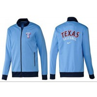 Baseball Texas Rangers Zip Jacket Light Blue