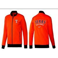 Baseball Texas Rangers Zip Jacket Orange