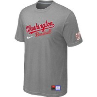 Baseball Washington Nationals Light Grey Nike Short Sleeve Practice T-Shirt