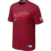 Baseball Washington Nationals Red Nike Short Sleeve Practice T-Shirt