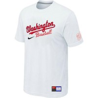 Baseball Washington Nationals White Nike Short Sleeve Practice T-Shirt