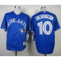Blue Jays #10 Edwin Encarnacion Blue Alternate Stitched Baseball Jersey