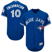 Blue Jays #10 Edwin Encarnacion Blue Flexbase Authentic Collection Stitched Baseball Jersey